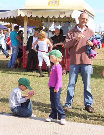 Bill, Joshua and Ursula at the Festival of British Eventing