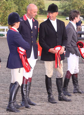 Pippa, Rodney, Bill and Francis at Hartpury