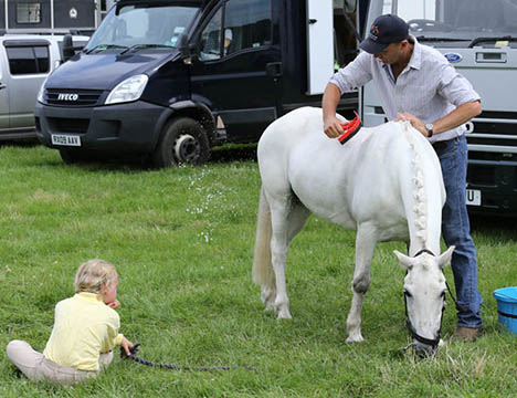 Bill Levett with Urssie Levett and Toddy, PCHT, Broadway, July 2014