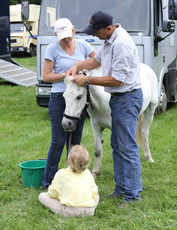 Bill and Jenny Levett with Urssie Levett and Toddy, PCHT, Broadway, July 2014