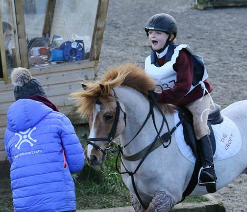 Urssie & Freddie, Aston-le-Walls Arena Eventing, January 2016
