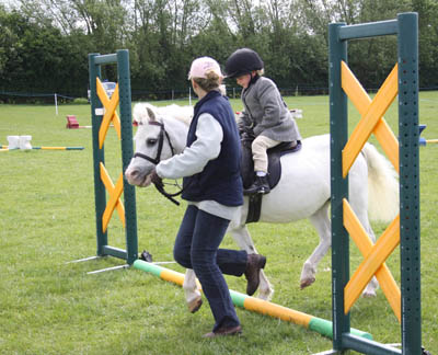 Urssie & Jenny at the Pony Club show 2010: Photo by Grace