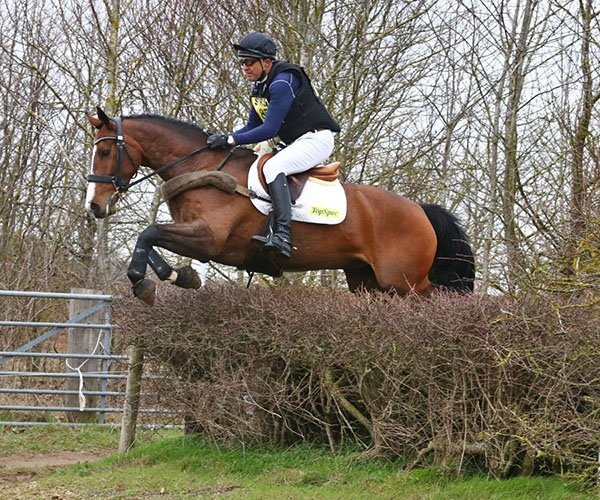 Bill Levett and Shannondale Jedi, Oasby, March 2019
