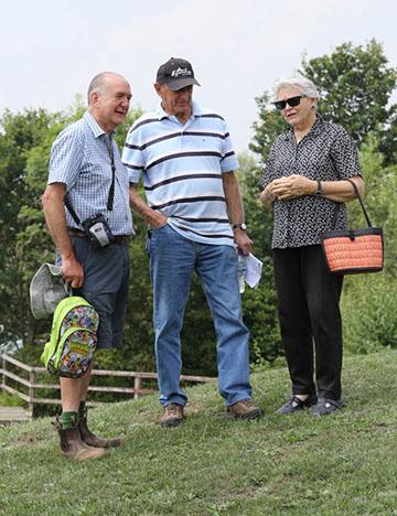 John Prentice, Bob and Wendy Levett , Aston, July 2014